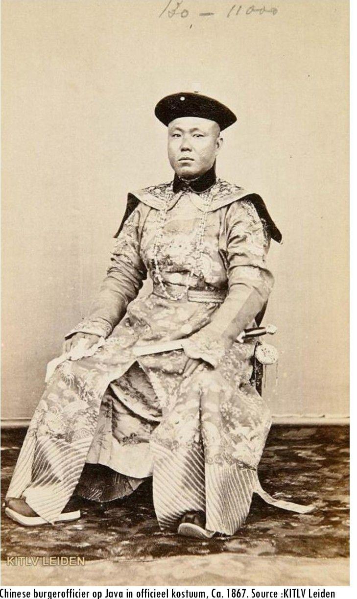 Chinese burgerofficier op Java, ca 1867