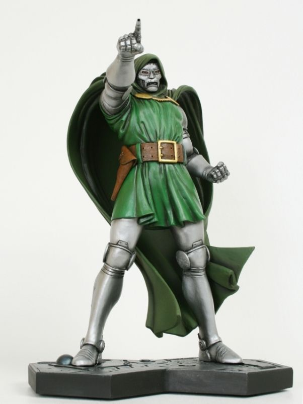 "Dr. Doom Classic statue  Sculpted by: Seth Vandable    Release Date: October 2010  Edition Size: 700  Order Of Release: Phase IV (statue #214)    Over 12"" tall"