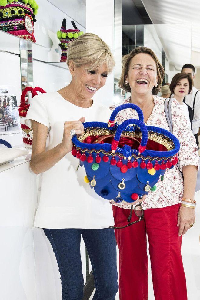 Brigitte Macron style look Sicile G7