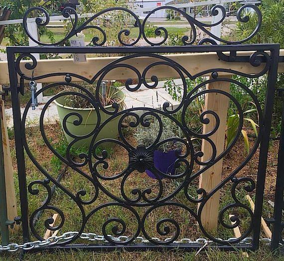 Single Wrought Iron Garden Gate Iron Garden Gates