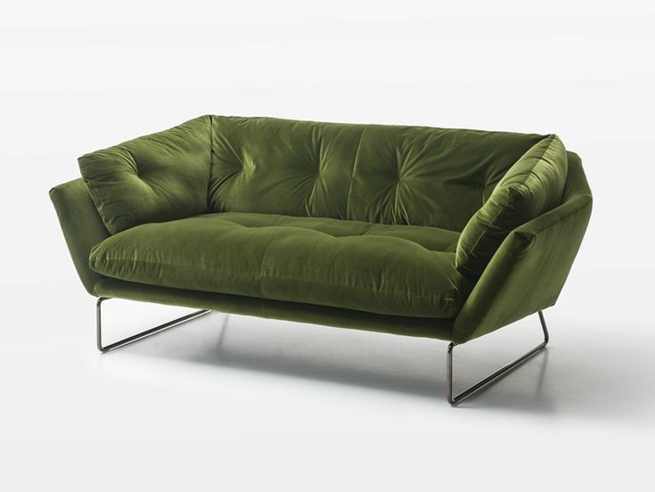 Upholstered 2 seater fabric sofa New York Suite Collection by Saba Italia | design Sergio Bicego