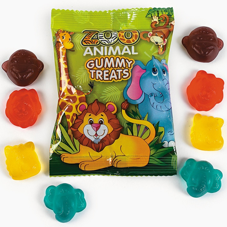 Zoo Animal Gummy Candy Packs - OrientalTrading.com