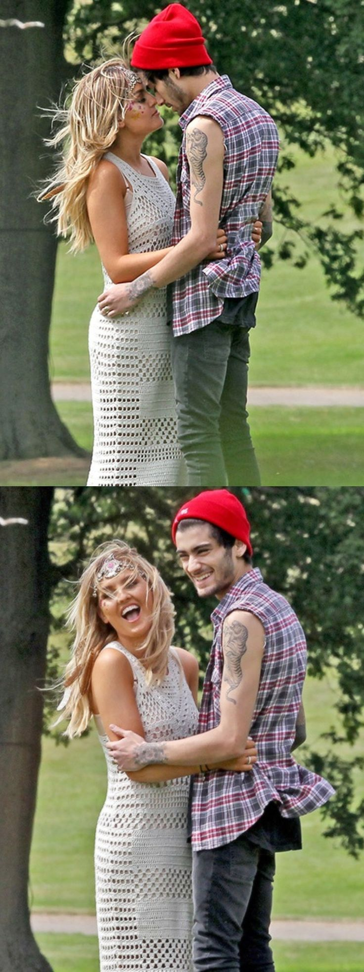 They are so cute!!  in the first picture they look like a couple in a movie like, I dont know. It's just so perfect
