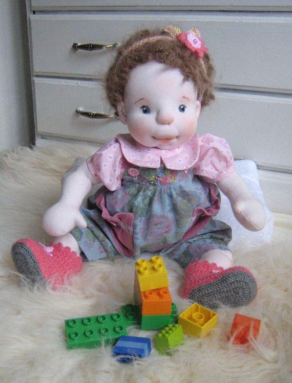 Waldorf DollSoftsculptured Doll Handmad Doll  by MaryUniqueDoll