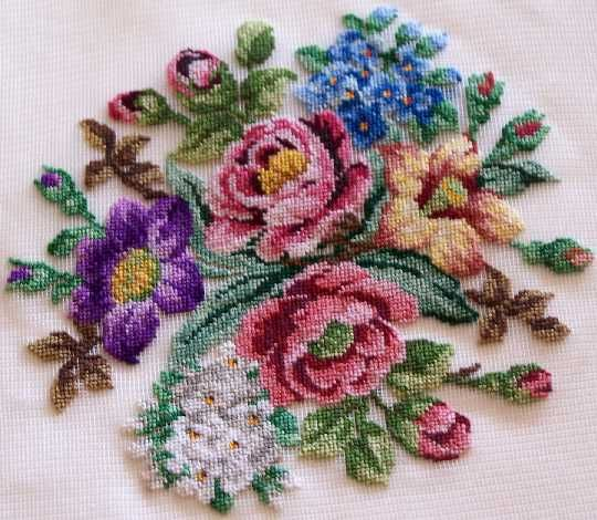 I have done a few petit point pictures and I hope to finish the three I have started before my eyesight fails me.