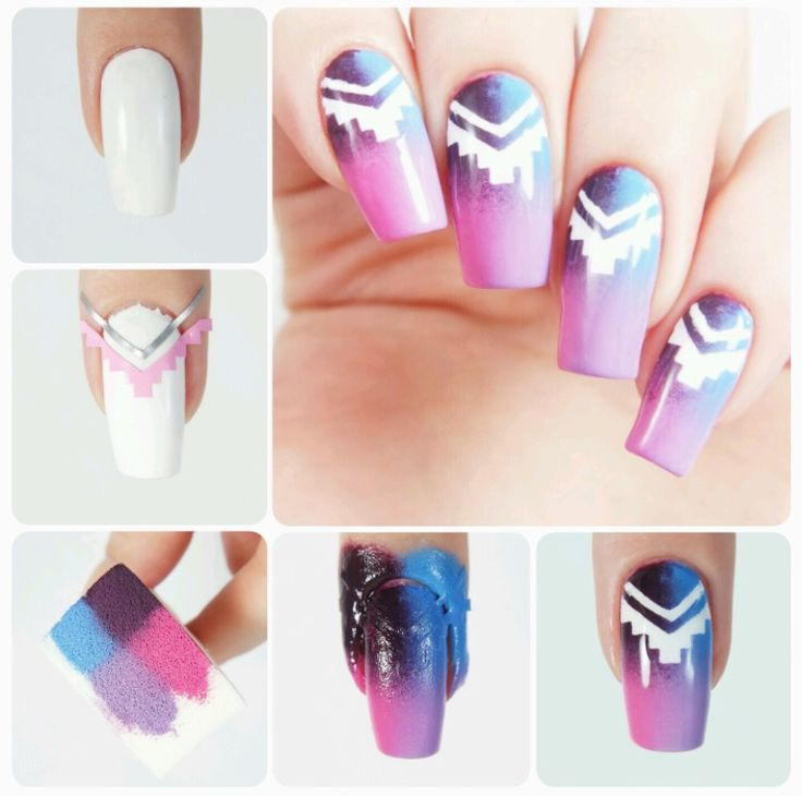 How to create perfect Tribal accent nails using our Aztec & Small Single Chevron Nail Vinyls found at snailvinyls.com