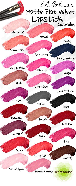 L.A. Girl Matte Flat Velvet Lipsticks