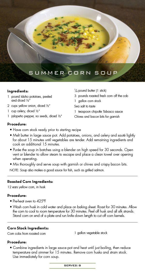 Seasons 52 Recipe for Summer Corn Soup