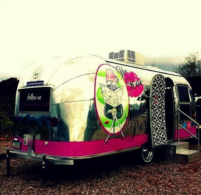Salon on wheels! @The Kiss N Makeup Parlour Airstream Parlour