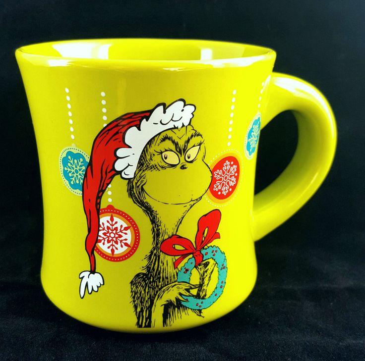 drseuss donu0027t be a grinch ceramic coffee mug 12oz lime green holiday beverage