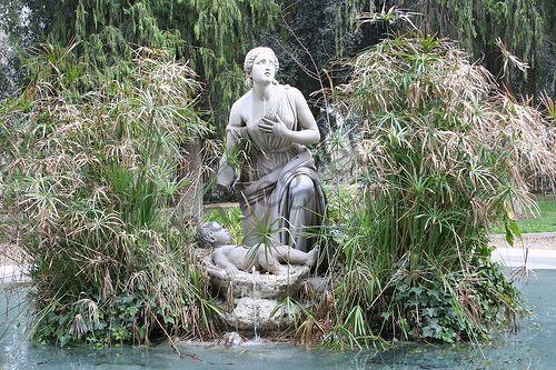 Fontana del Mosè salvato dalle acque al Pincio