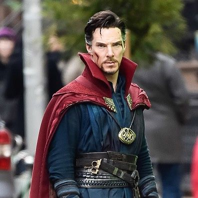 NEW YORK, NEW YORK - APRIL 02: Actor Benedict Cumberbatch is seen filming 'Doctor Strange' on location on April 2, 2016 in New York City.