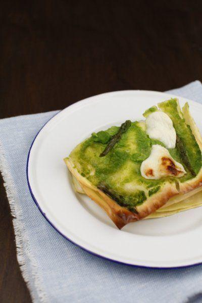 lasagne agli asparagi e crescenza