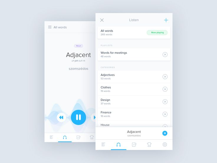 Playlist - Audio Dictionary by Barton #Design Popular #Dribbble #shots