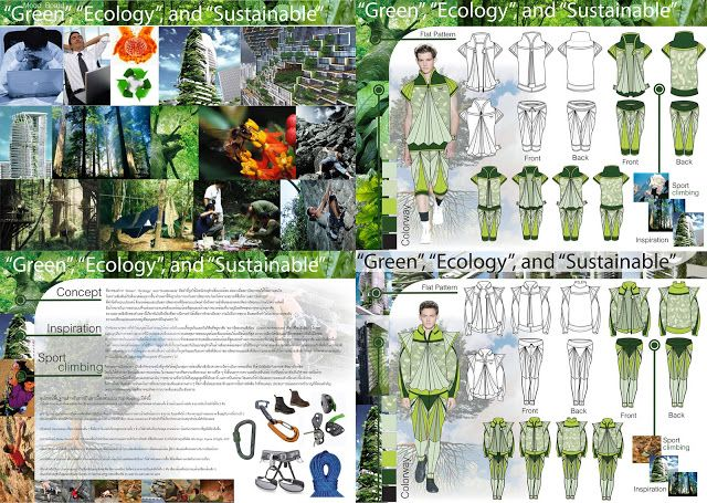 "7 th Grand Sport Young Designer Contest 2011 Architecture and design major, Faculty of Industrial Education, King Mongkut Institute of Technology Ladkrabang. Entry: ""Green, Ecology and Sustainable"" mountain climbing wear inspired by green architecture."