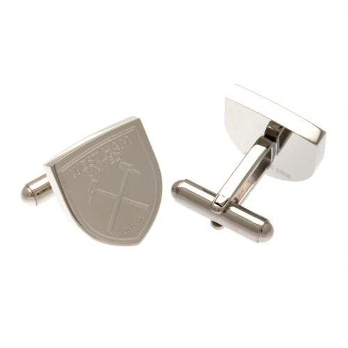 Official Football Team Gift West Ham United F.C. Stainless Steel Cufflinks. West Ham United F.C. Stainless Steel Cufflinks CR.