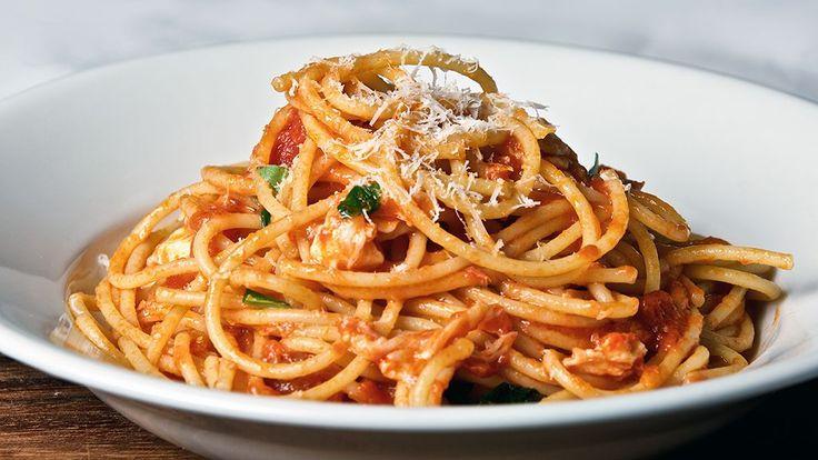 A delicious Spaghetti Napolitana that anyone can create in their kitchen.