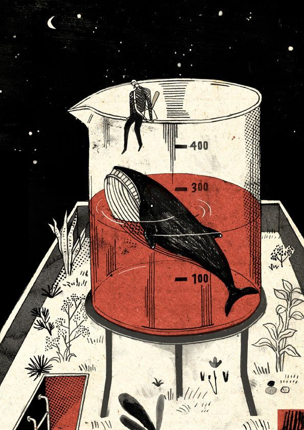Knock the whale out/敲昏鯨魚 on Illustration Served