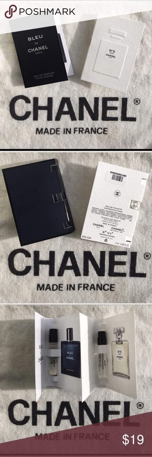 🆕 CHANEL Bleu De CHANEL & N*5 L'EAU CHANEL. 🆕 CHANEL Bleu De CHANEL & N*5 L'EAU CHANEL. Includes Bleu De Chanel Men's Travel & N*5 L'Eau CHANEL Travel His & Hers CHANEL. These are BRAND NEW! UNTOUCHED! Sephora Makeup