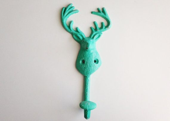 Deer Wall Hook Rustic Coat Stag Decor By Juxtapositionsc 1800
