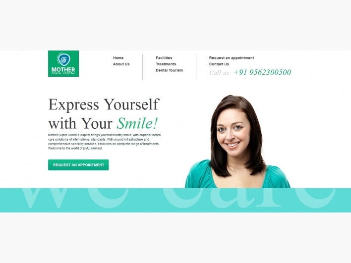 """Mother Dental Hospital"" by Acodez IT Solutions: Bronze Winner - Web Design Category - Monthly Design Award June 2012"