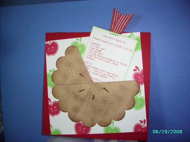 Very Best Apple Pie recipe card by Christie B - Cards and Paper Crafts at Splitcoaststampers