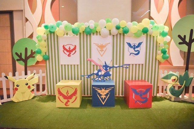 Ying Nan's Pokemon Themed Party – Photo-wall