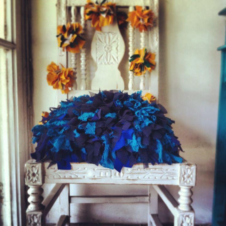 Cojin azul, disponible!!