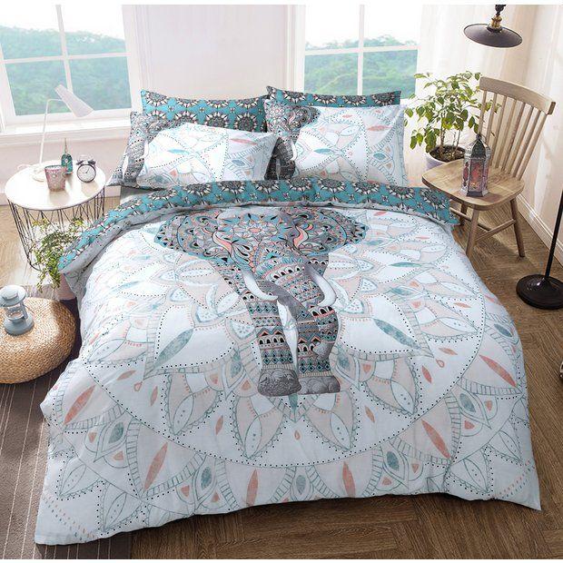 Buy Argos Home Elephant Mandala Bedding Set Single Duvet Cover Sets Argos Duvet Cover Sets Duvet Sets Elephant Bedding