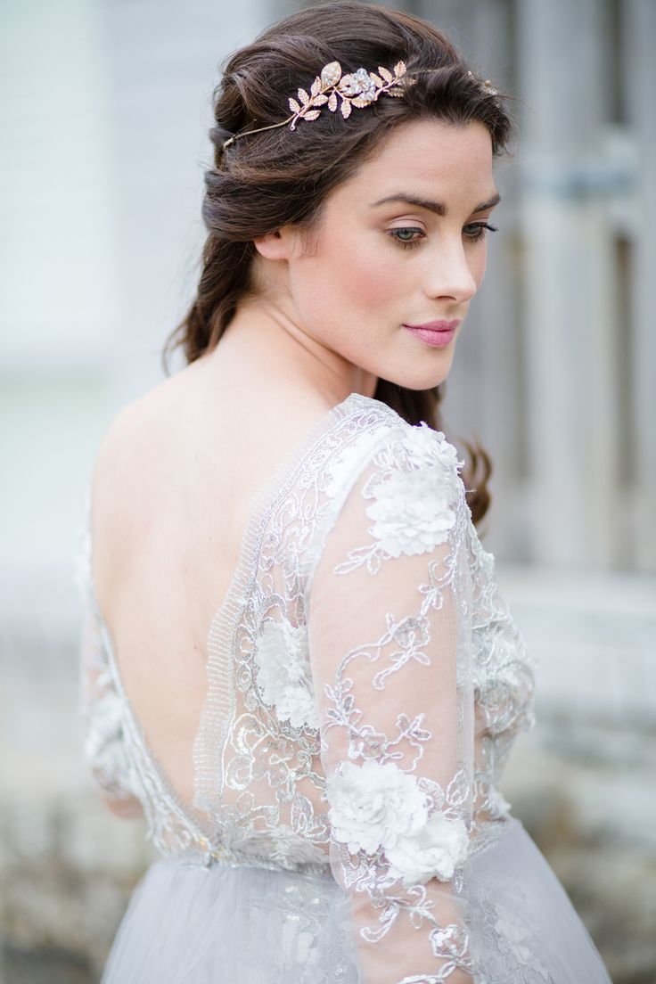 View entire slideshow: Dove Gray Wedding Dresses That Will Make You Wonder Why You Ever Wanted White on http://www.stylemepretty.com/collection/2898/