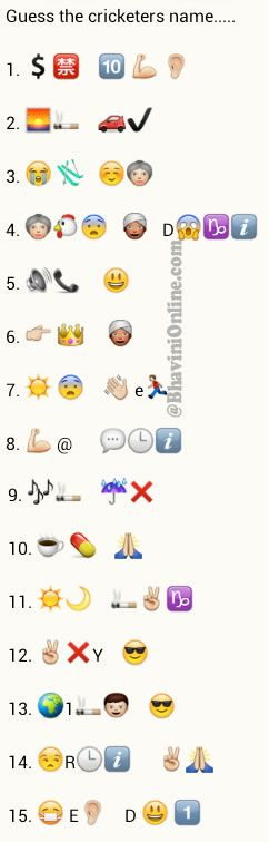 Create puzzles with Whatsapp emoticons and smileys…and send it to friends and let them crack the puzzles. Here's one more that's doing rounds now. For other puzzles you would usually find a solution on Google but finding these ones are really difficult. So here a crack for one of the puzzles. Just copy paste the …