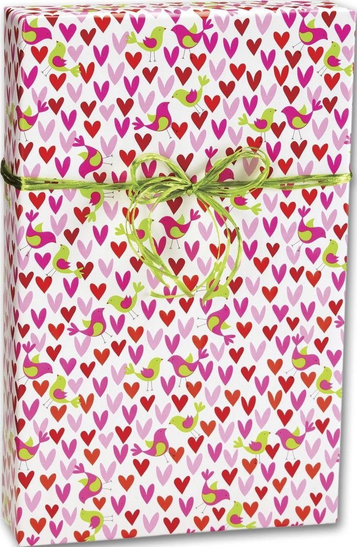 Everyday Gift Wrap - Birds and Hearts Gift Wrap, 24' x 417' (1 roll) - BOWS-M-6267H * Details can be found by clicking on the image.