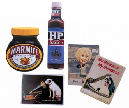 Tinplate Products - Fridge Magnets made in the UK: HP Sauce, Marmite and More