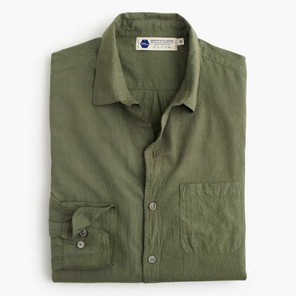 J.Crew Mens Industry Of All Nations Madras Shirt In Green