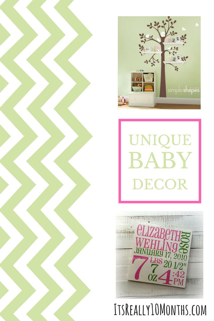 Unique baby decor for any nursery or child's room. bedroom / art / idea / gift / nursery / design / baby shower /
