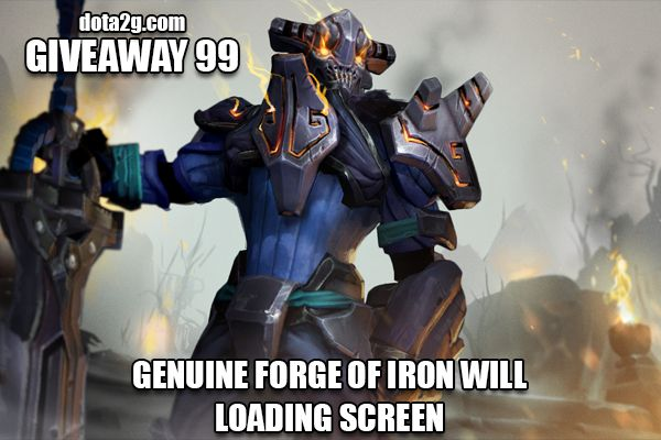 Giveaway 99 - Genuine Forge of Iron Will Loading Screen