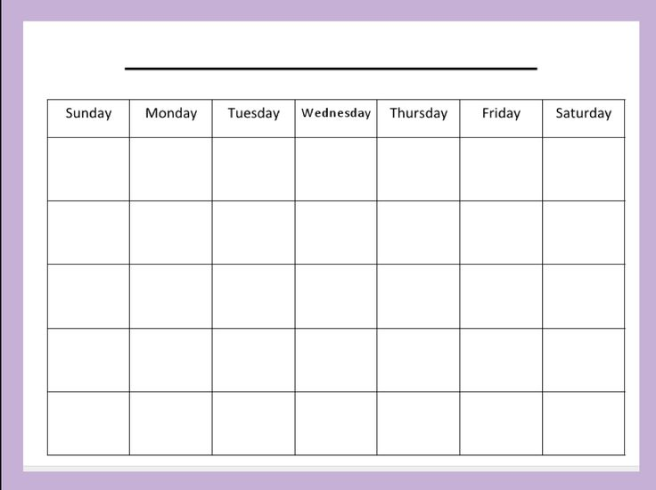 Calendar Printables Weekly Deutsch : Blank month calendar monthly meal plan pinterest
