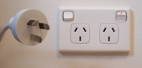 Not sure what type of power plugs to bring to Australia? This is an exact image of Australian power plugs. Make sure you have the right adapter. We cover this in our article on 101 things you need to know before moving to Australia