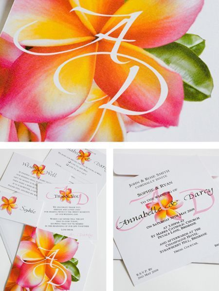 Frangipani - Wedding Invitations & Stationery