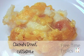 Free Time Frolics: Chicken Bowl Casserole {Recipe} Just like KFC chicken bowl #KFC #recipe #kentuckyfriedchicken #comfortfood