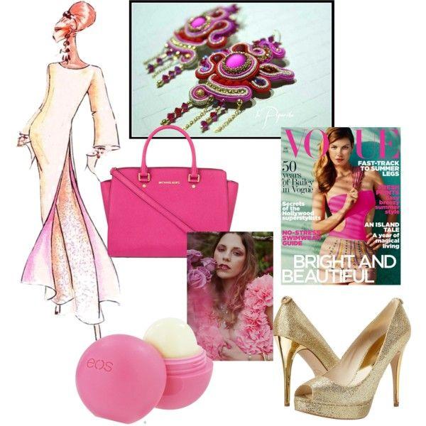 Pink by veronica-papi on Polyvore featuring moda,La Piperita gioielli artigianali, MICHAEL Michael Kors, Eos and Elie Saab