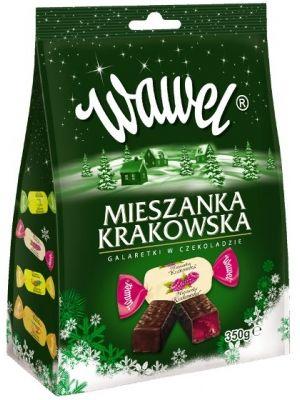 Mieszanka Krakowska to kompozycja galaretek w czekoladzie deserowej o różnych smakach: cytrynowym, ananasowym, pomarańczowym, malinowym. Doskonałe połączenie świeżych smaków owoców z czekoladą, każdy z pewnością znajdzie swój ulubiony.