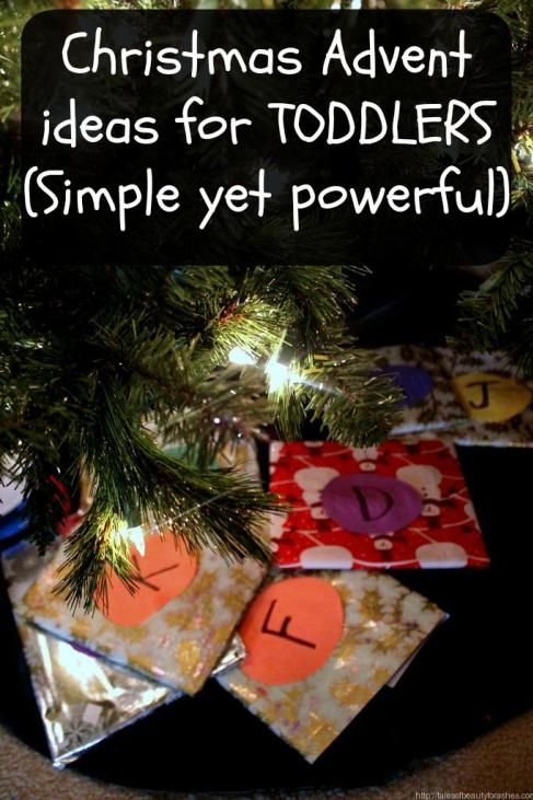 Christmas Advent ideas for toddlers! A great way to get little ones thinking about the season!