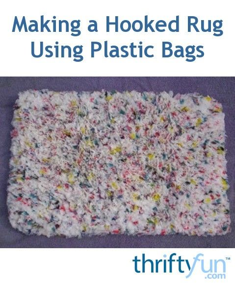 This guide is about making a hooked rug using plastic bags. A great way to recycle loads of plastic bags is to make a rug.