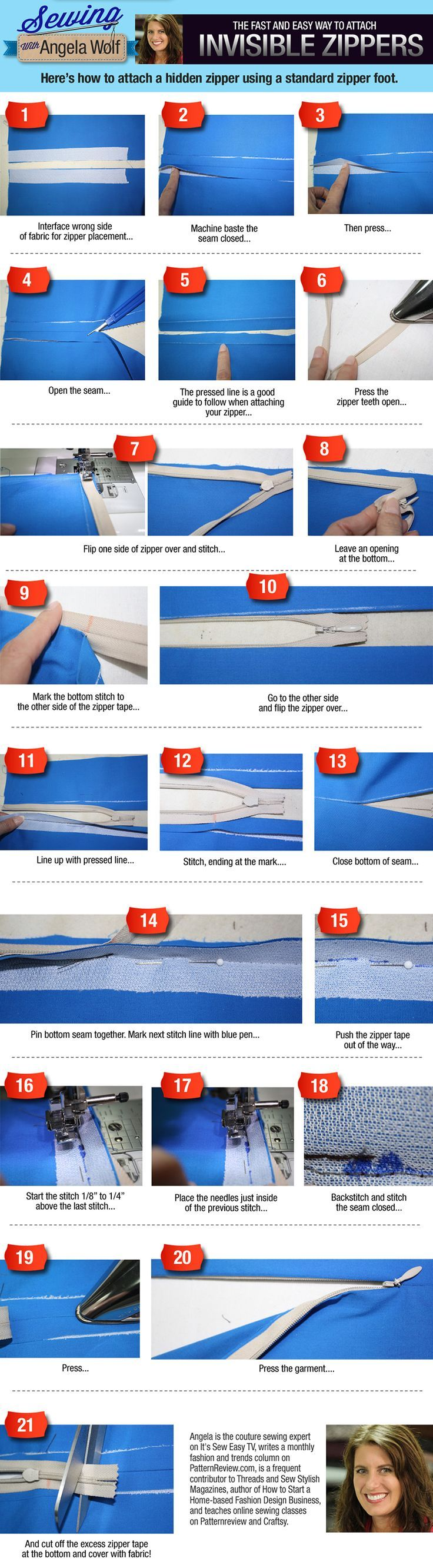 How to sew an invisible zipper! is creative inspiration for us. Get more photo about home decor related with by looking at photos gallery at the bottom of this page. We are want to say thanks if you like to share this post to another people via your facebook, pinterest, …