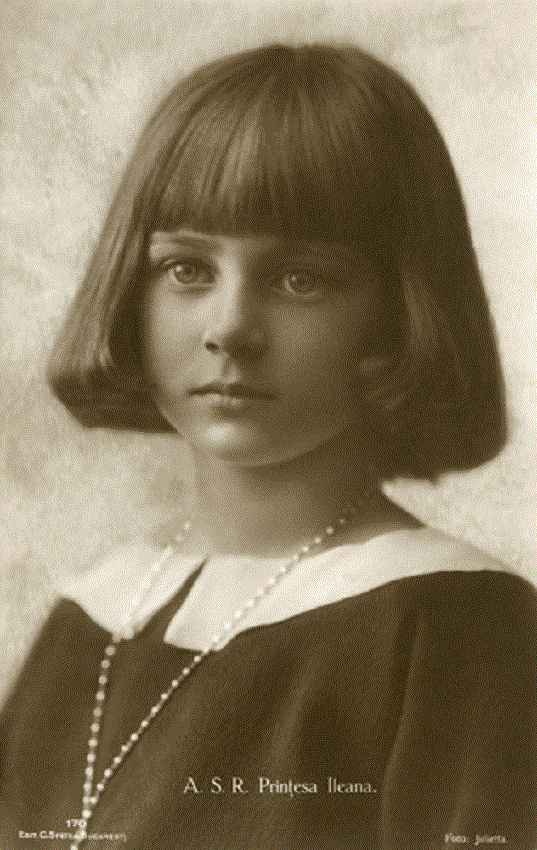 Romanian Royalty - Princess Ileana (1909-1991) - daughter of Queen Marie. She became the Archduchess of Austria