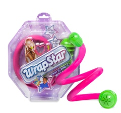 WrapStar is the first microphone your little star can bend and twist. What can you make with the WrapStar Mic? With WrapStar's three feet of bendability, you can get all wrapped up in the fun. Each color includes three silly sound effects, and the built-in speaker provides ultimate creative freedom. Microphone is 3 feet long with a soft, foam, bendy body in varied colors of pink, purple, blue and green. Requires 1 AA battery.