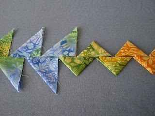 """""""Continuous Prairie Point"""" tutorial (from Quilt Sampler Journal)"""