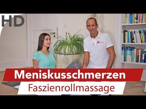 Meniskus Schmerzen // Übungen gegen Knieschmerzen mit der Faszienrolle - YouTube