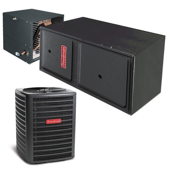 2 5 Ton A C Goodman 14 Seer Central Air Conditioner 80 000 Btu 97 Efficiency Gas Furna Central Air Conditioning Central Air